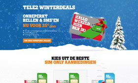 Tele2 - Winter concept 2014 <br />                                  Webdesign